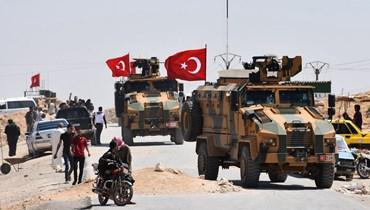 القوات التركية في ريف حماة