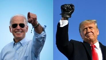 المرشح الجمهوري دونالد ترامب ومنافسه الديموقراطي جو بايدن