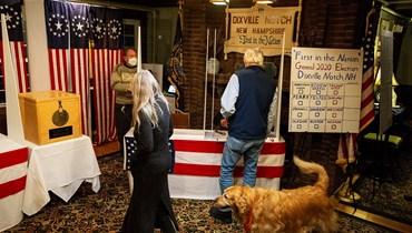 خلال التصويت في ديكسفيل نوتش. (ا ف ب)