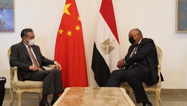 وزير الخارجية المصري سامح شكري ومستشار الدولة وزير خارجية الصين وانغ يي