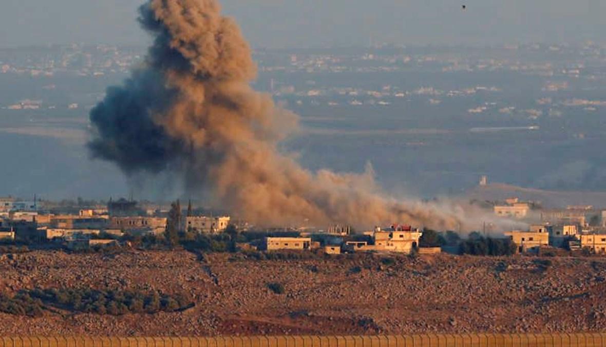 دخان قصف في سوريا