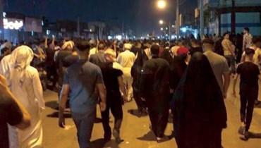 احتجاجات ليلية في الأحواز