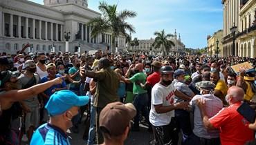 التظاهرات تفتتح تأريخاً جديداً في كوبا؟