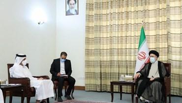 رئيسي خلال استقباله وزير الخارجيّة القطري