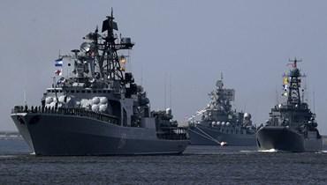 سفن حربية روسية في المتوسط