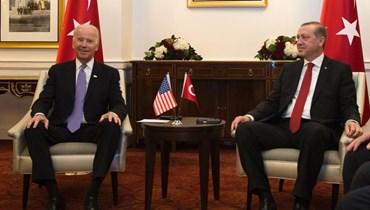 الرئيس التركي رجب طيب اردوغان والرئيس الاميركي جو بايدن