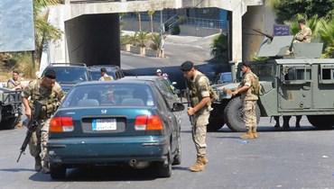 دورية للجيش اللبناني في خلدة (نبيل اسماعيل)