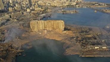 مرفأ بيروت بعد الانفجار في الرابع من آب الفائت