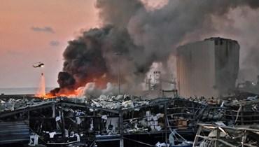 الدمار الناجم عن انفجار مرفأ بيروت