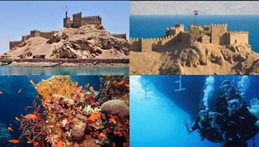 جزيرة فرعون بطابا المصرية... عندما يمكنك مشاهدة 4 دول من المكان نفسه