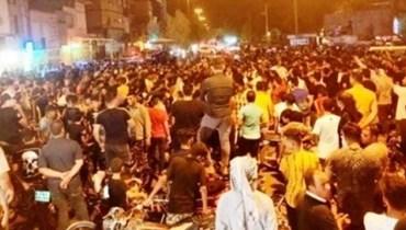 من تظاهرات الأحواز