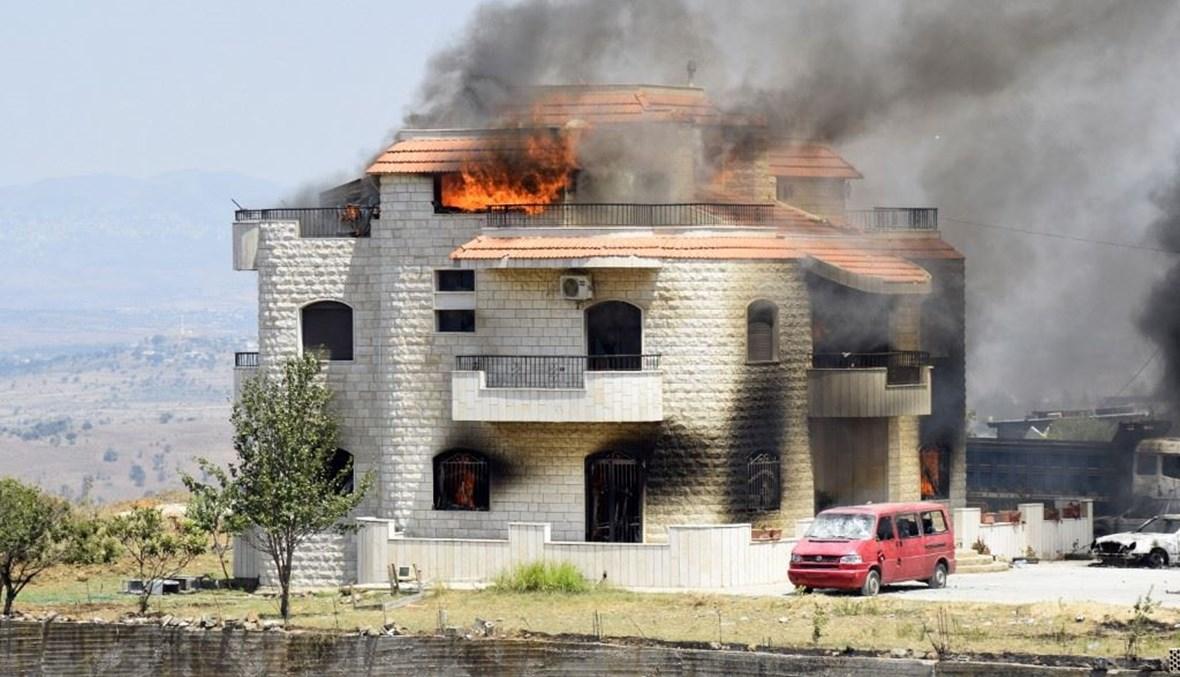 منزل صاحي الأرض الذي وضع فيه خزان البنزين بعد اضرام النار فيه.أف ب