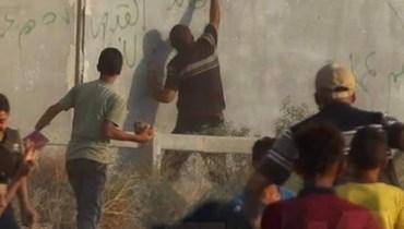 من الاشتباكات بين الفلسطنيين والجيش الإسرائيلي