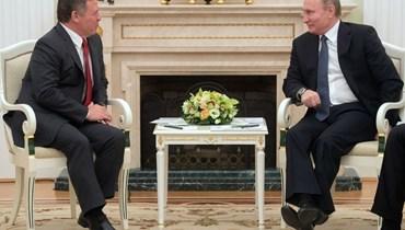 فلاديمير بوتين والملك عبدالله