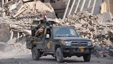 آلية عسكرية تابعة للجيش السوري