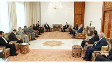 الرئيس السوري يستقبل وزير الخارجية الايراني والوفد المرافق له