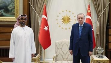 لقاء أردوغان - طحنون في أنقرة
