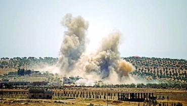 قصف عنيف على درعا