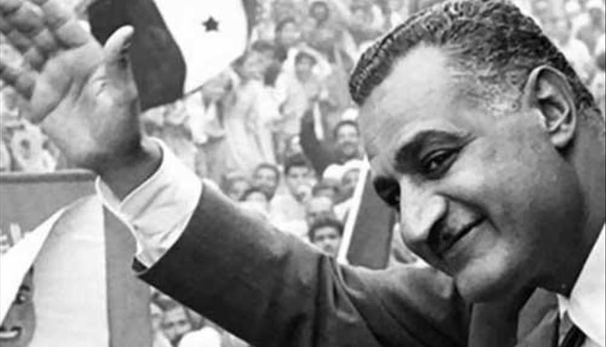جمال عبد الناصر  يلقي خطاباً لتأميم قناة السويس