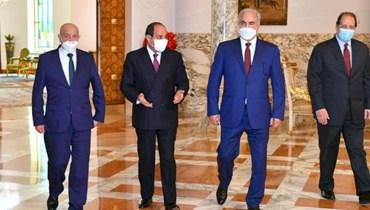السيسي مستقبلاً حفتر وصالح