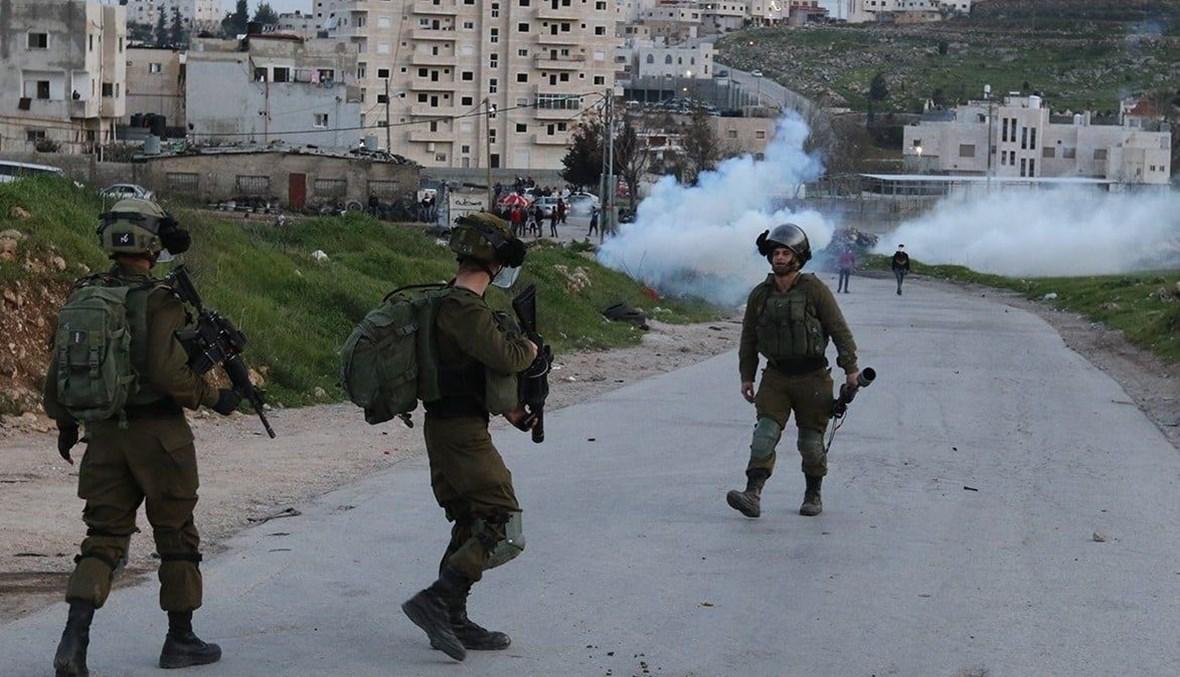 أفراد من الجيش الاسرائيلي في نابلس