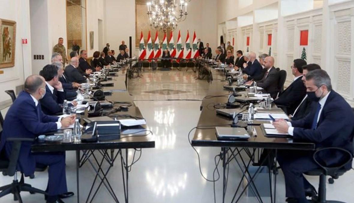 الحكومة اللبنانية الجديدة خلال أوّل اجتماعاتها