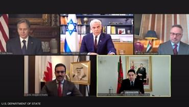 خلال لقاء وزراء خارجية الدول الخمسة في الذكرى الاولى لاتفاقيات السلام
