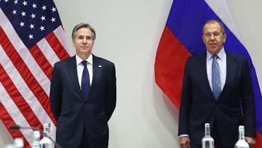 وزير الخارجية الروسي سيرجي لافروف ونظيره الأميركي أنتوني بلينكن