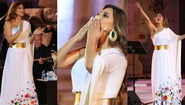 نجوى كرم في مهرجان جرش بتوقيع المصمّم السّعودي عبدالرحمن الرميزان