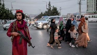 """عنصر من """"طالبان"""" في كابول"""