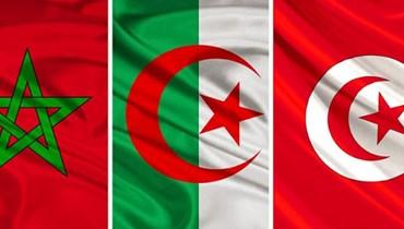 اعلام تونس والجزائر والمغرب