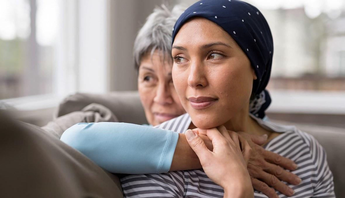 دعم المصابات بسرطان الثدي.
