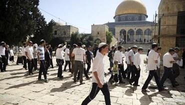 مستوطنون في باحات المسجد الاقصى