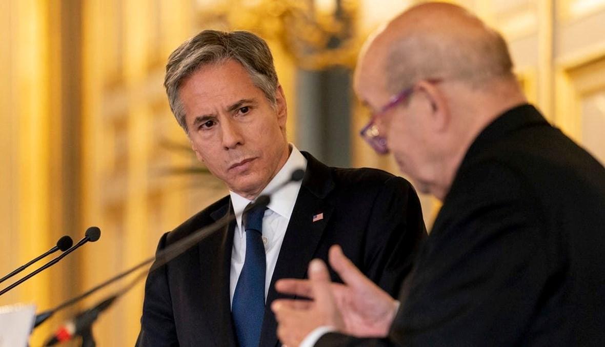 وزيرا خارجية فرنسا والولايات المتحدة