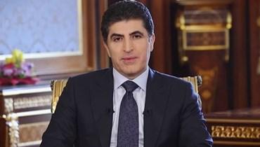 رئيس إقليم كردستان نيجيرفان بارزاني