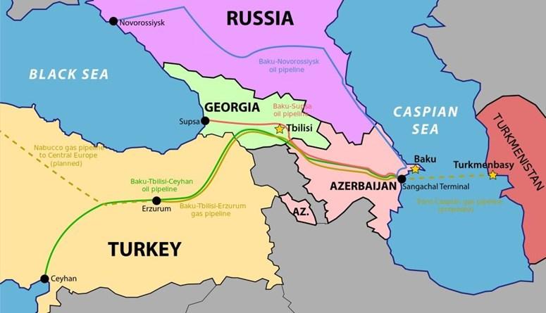 """العبور من أذربيجان إلى بحر قزوين ... حلم تركيا """"العثمانية"""" لبناء ممر أوراسي"""