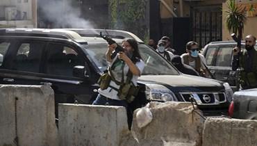 من اشتباكات الطيونة في لبنان