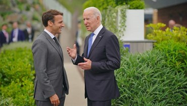 الرئيس الأميركي جو بايدن ونظيره الفرنسي إيمانويل ماكرون