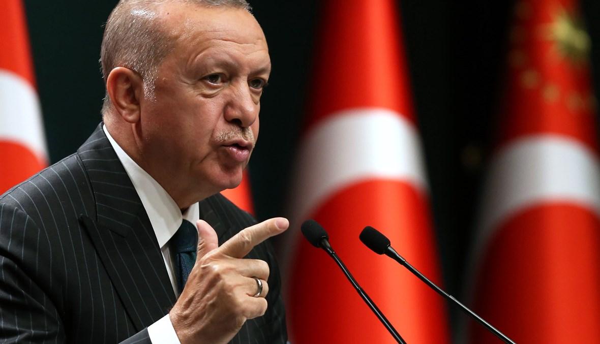 الرئيس التركي رجب طيب اردوغان. (ا ف ب)
