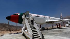 طائرة بوينغ تتحول الى مطعم سياحي في نابلس